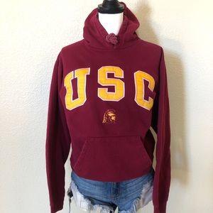 Sweaters - USC Trojans Cardinal & Gold Hoodie Sweatshirt SZ M